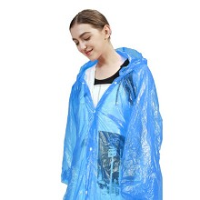 欣沁一次性雨衣全新料四合扣加厚6丝雨披户外登山旅行一次性雨披男女雨具可重复使用 2个装蓝色