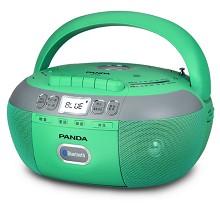 熊猫(PANDA)CD790 蓝牙CD机播放机 磁带播放器 标配16GU盘 绿色