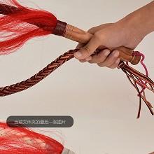 健身 牛皮鞭子 表演道具 木柄 0.7米长