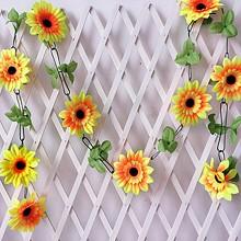 尚艺 仿真向阳花  大号10朵太阳花 2米长