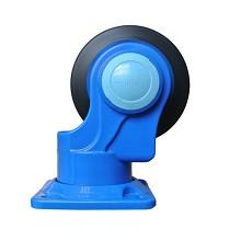 连和(Uni-Silent)PLA200Y-T2-HL2-D 塑料平板双层双扶手两层护栏200kg手推车  蓝色   铁支架天然橡胶轮
