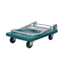 连和(LINKIND)LH300P-DX  塑料平板单层300kg手推车  绿色   铁支架PU轮