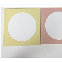 以琳 简易纸画框 儿童彩色卡纸相框裱25*25CM画纸+膜+胶 颜色可选