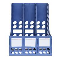 得力(deli)9845 资料架 加厚加固三联文件框 蓝色