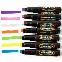 宝克 荧光板专用笔LED电子黑板荧光笔水性可擦POP荧光笔 3mm 全套7色 圆头