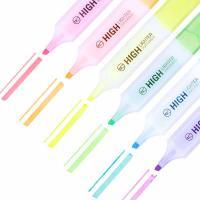 得力(deli)S628 6色荧光笔 重点醒目标记笔 水性彩色手帐用记号笔6支/袋