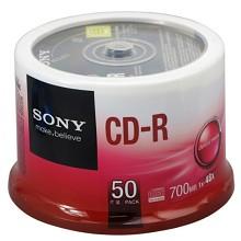 索尼(SONY)CD-R 空白刻录光盘 48X 700M 50片/桶 整桶装