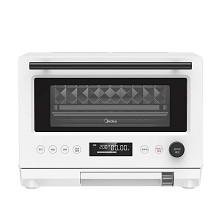 美的(Midea)PG2310 微波炉 微蒸烤一体机 家用三合一电蒸电烤箱 变频大火力 立体烘烤 304不锈钢菱面内胆 23L 白色