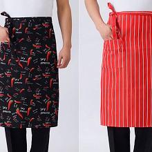 嘉能 餐厅厨师防污半身围裙 定制短款男女厨师
