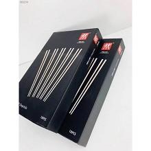 双立人(ZWILLING)高档不锈钢防滑筷子 10双/盒