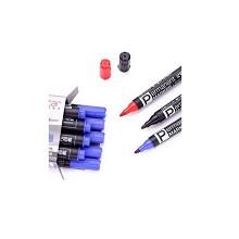 得力(deli)6881 粗头物流油性记号笔 10支/盒 红色 单支价