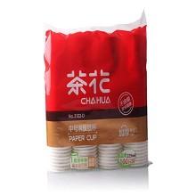 茶花(CHAHUA)3102-D 中號淋膜紙杯 225ML 100只裝 白色