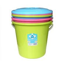 茶花(CHAHUA)0236-A 雅致提桶 含蓋 歐式豪華圓桶 單個裝 顏色隨機