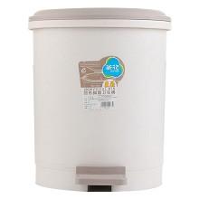 茶花(CHAHUA)1501 圓型腳踏衛生桶 28cm 單個裝 顏色隨機