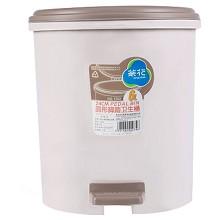 茶花(CHAHUA)1502 腳踏衛生桶 圓型 24CM 單個裝 顏色隨機