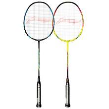 李宁(LI-NING)A1111 羽毛球拍双拍2支全碳素3u对拍超轻专业初学羽拍套装  送15支装球AC18(已穿线)