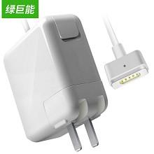 绿巨能(llano)适用苹果笔记本电源适配器线 45W MacBook Air A1466 A1465 A1436 14.85V3.05A