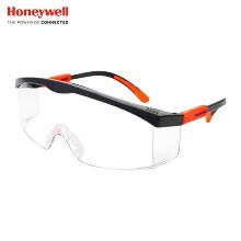 霍尼韦尔(Honeywell)120310 S200G  透明镜片 男女防风 防沙 防尘 防雾 骑行眼镜活力橙