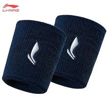 李宁 LI-NING 护腕 透气男女篮球羽毛球排球网球毛巾运动护手腕(两只装)