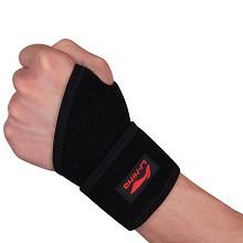 李宁 LI-NING 254 可调节运动护腕 双只装 开护手腕黑色