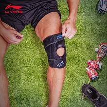 李宁(LI-NING)护膝 保护膝盖透气款护具羽毛球登山护腿