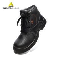 代尔塔 Deltaplus 301512 劳保鞋 加绒保暖防水防砸防滑牛皮 黑色 44