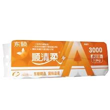 顺清柔 6552 卫生纸 长条卷纸 橙A家用实惠装 3000g 12卷/提 白色