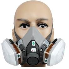 3M 6200 6005cn防毒面具 防有机蒸气 防甲醛口罩喷漆装修异味面罩七件套
