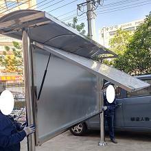 图伦多 铝型材宣传栏 带雨棚