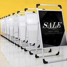 正通 广告展示牌 铝合金kt板展 架立式落地式展板1.2*0.8m