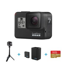 GoPro HERO7 Black 双充+shorty自拍礼盒运动相机摄像机 含SD卡