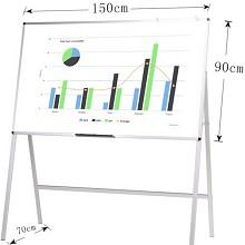 AUCS QUR1590H 白板支架式移动写字板 150*90cm