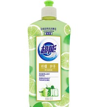 超能 离子去油洗洁精 柠檬味 500g/瓶 单瓶装
