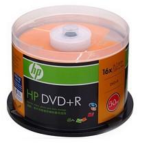 惠普(HP)DVD+R 刻录盘 16速4.7GB 50片桶装 整桶装