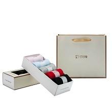竹印象(BAMBOOIMPRESSION)zyx-04011 竹纤维健康除臭袜礼盒装 单套装 随机