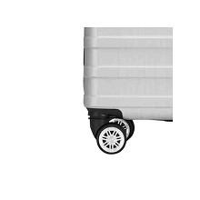 WRC W-D0888 24寸横条纹拉杆箱旅行箱 单个 黑银随机