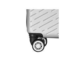 WRC W-E0888 24寸简约斜纹拉杆箱旅行箱 单个 黑银随机