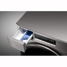 美的(Midea)MD100T2WADQCY 滚筒洗烘一体洗衣机 巴赫银