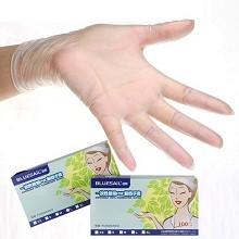 蓝帆 PVC 一次性透明手套 100只/盒 10盒/箱 单盒装