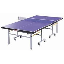 红双喜(DHS)T2023  蓝色 移动式折叠带轮乒乓球台 2740*1525MM