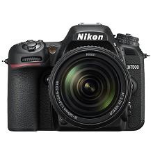 尼康(Nikon)D7500 單反相機 約2088萬有效像素 3.2英寸液晶屏 自動對焦 無內置存儲 含AF-S 18-140mm f/3.5-5.6G ED VR鏡頭 一年保修 黑色