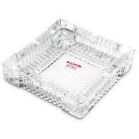 得力(deli)9580 办公居家大号玻璃方形烟灰缸 茶几摆件 180*180mm 单个