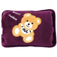 暖忆暖热水袋暖宝宝暖手宝热水袋充电已注水防爆暖水袋小熊006系列 单个 紫色