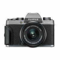 富士(FUJIFILM)X-T100/XT100 XC15-45 微单/照相机机械灰 2420万像素三向翻折触摸屏 4K视频蓝牙WIFI 单台