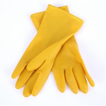 玫瑰 橡胶手套 洗衣专用 10双/包 黄色