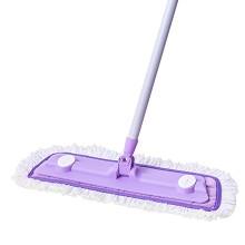 妙洁 1230028 超细纤维拖把木地板适用 大号平板拖把 布拖防滑 单把 紫色