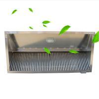 启帆 通风不锈钢油烟罩 商用工业厨房饭店食堂排烟罩 强力吸烟机油烟机 长5.3m(2.3+3)*宽1m