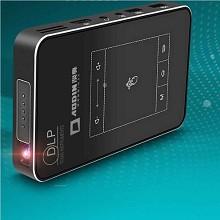 澳典(AODIN)M8 便携投影仪 无线wifi手机1080p带镜头保护盖8G 单台 黑色