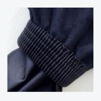 鑫辉 宽口皮革袖套 防水防油成人PU护袖 3双/组 颜色随机