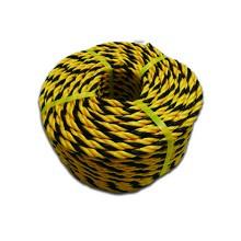 安赛瑞 10861 黄黑警示绳 尼龙绳 聚乙烯老虎绳 标志绳 安全绳 Φ1cm×100m 一捆 黄黑色